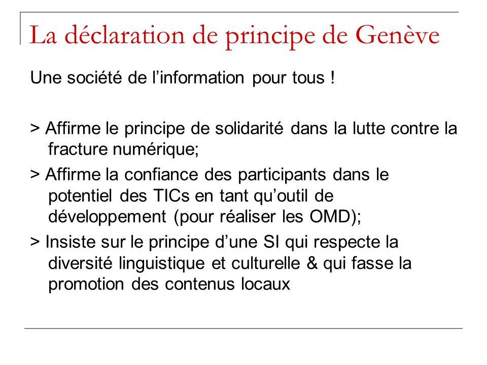 La déclaration de principe de Genève