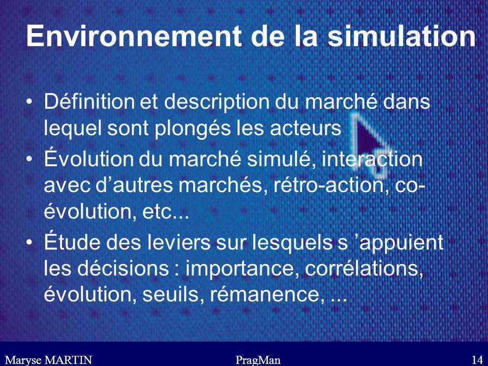 Environnement de la simulation