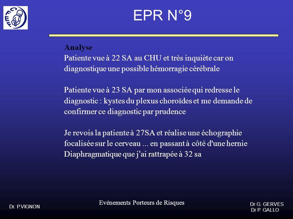 EPR N°9 Analyse Patiente vue à 22 SA au CHU et très inquiète car on