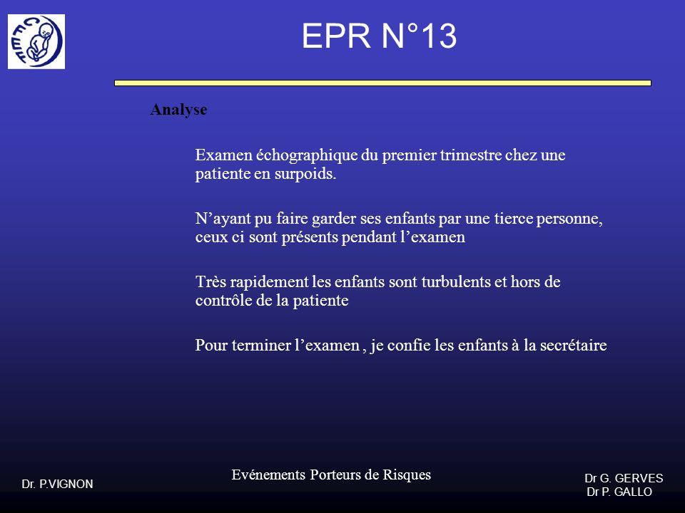 EPR N°13 Analyse. Examen échographique du premier trimestre chez une patiente en surpoids.