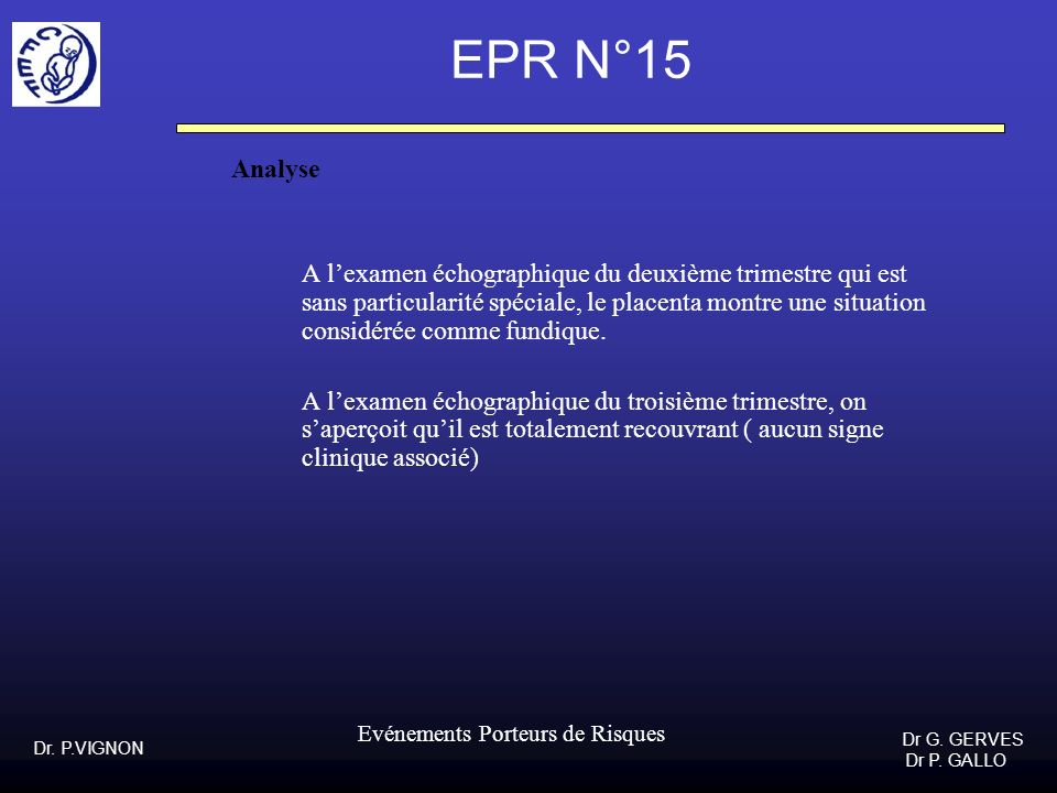 EPR N°15Analyse.