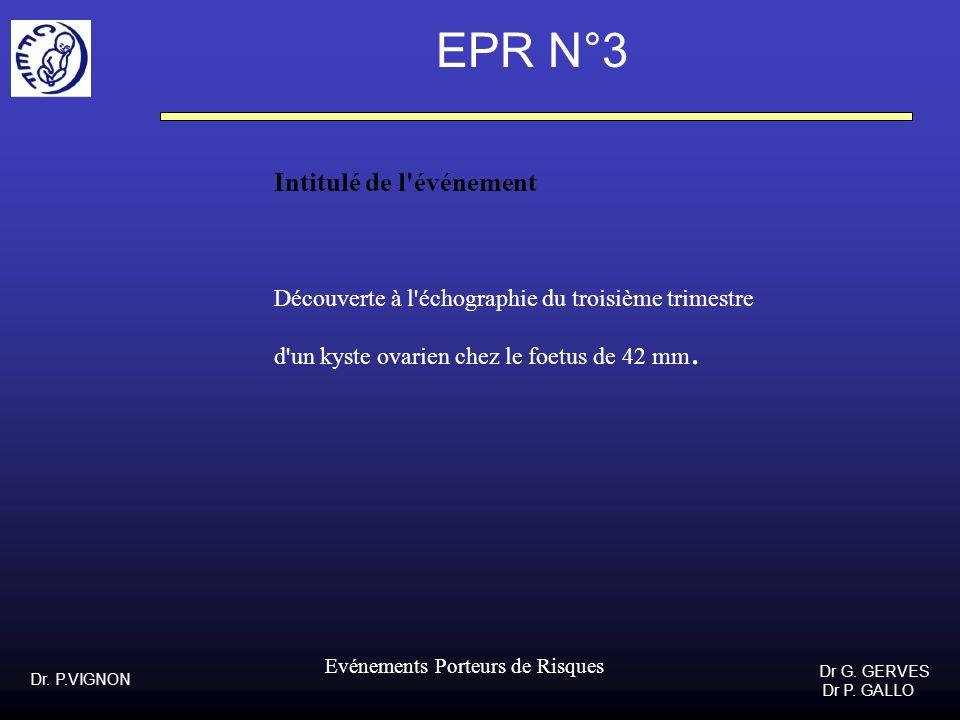 EPR N°3 Intitulé de l événement
