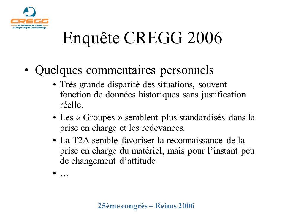 Enquête CREGG 2006 Quelques commentaires personnels