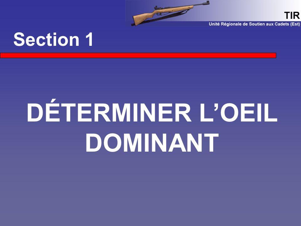 DÉTERMINER L'OEIL DOMINANT
