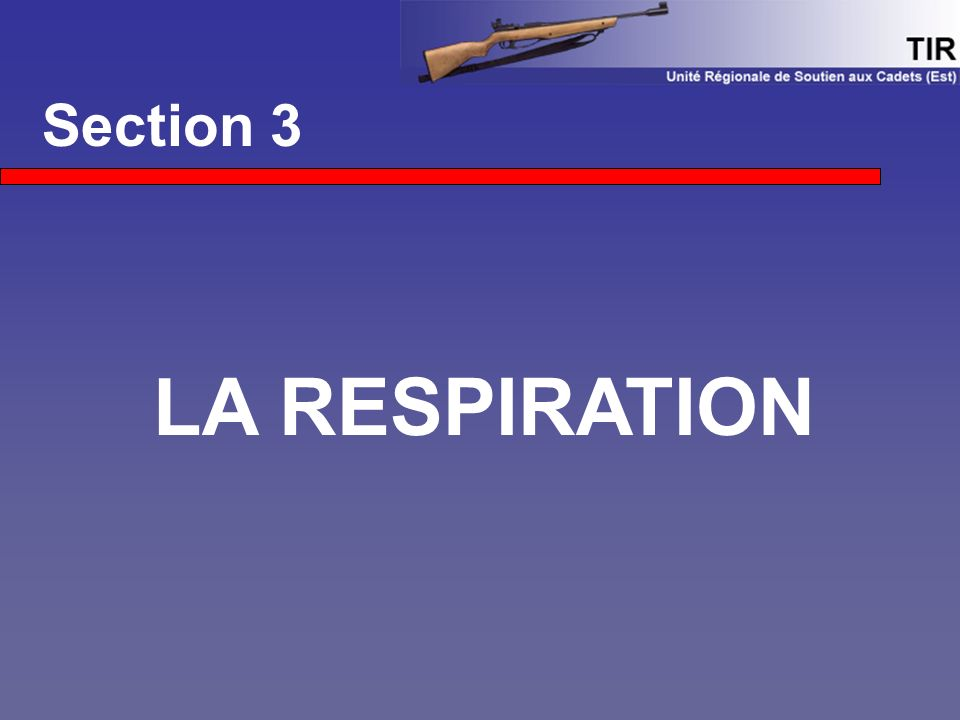 Section 3 LA RESPIRATION