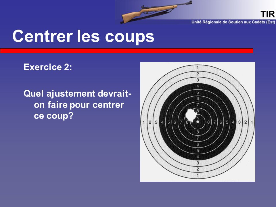 Centrer les coups Exercice 2: