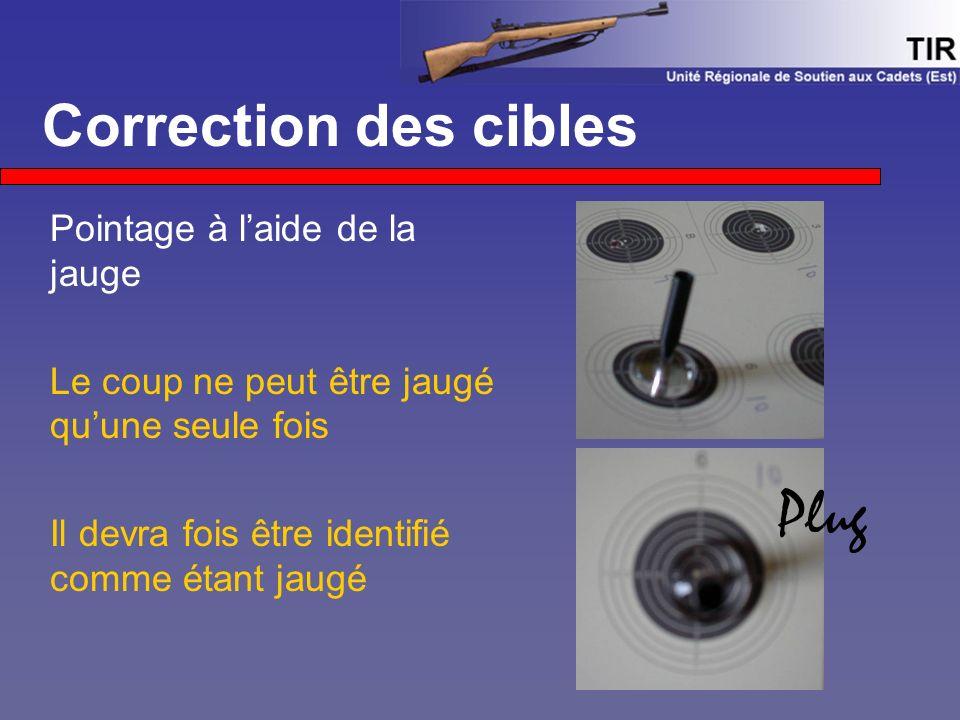 Plug Correction des cibles Pointage à l'aide de la jauge