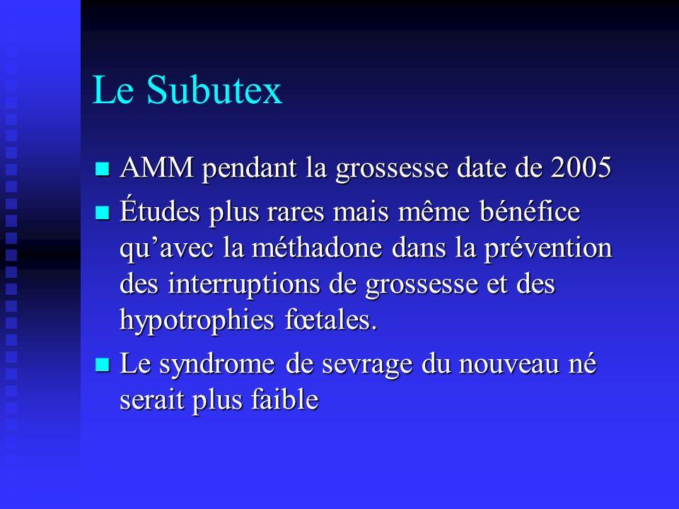 Le Subutex AMM pendant la grossesse date de 2005