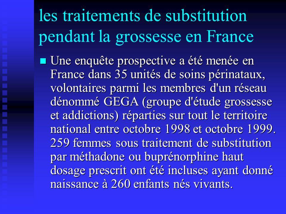 les traitements de substitution pendant la grossesse en France