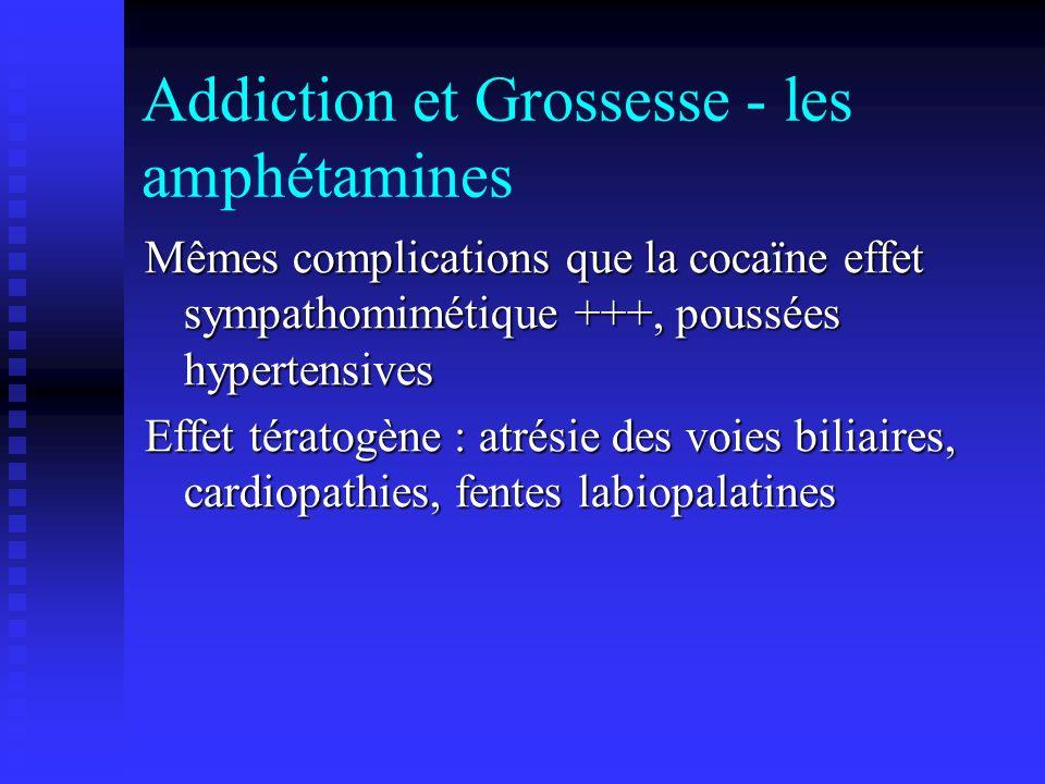 Addiction et Grossesse - les amphétamines