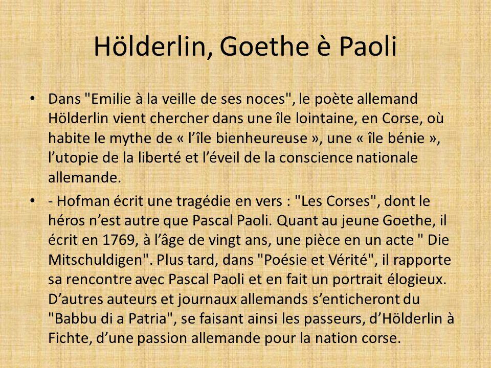 Hölderlin, Goethe è Paoli
