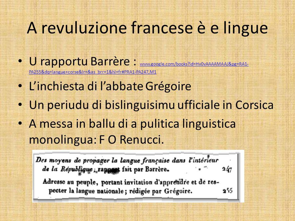A revuluzione francese è e lingue