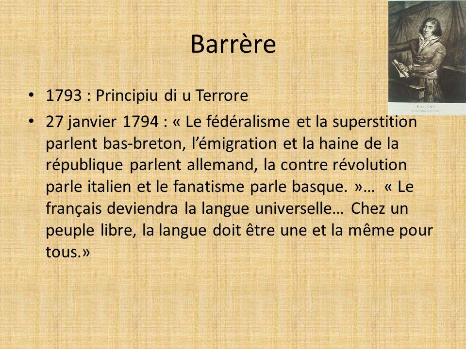 Barrère 1793 : Principiu di u Terrore