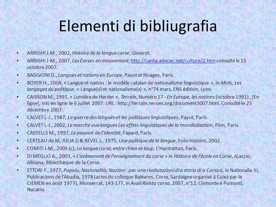 Elementi di bibliugrafia