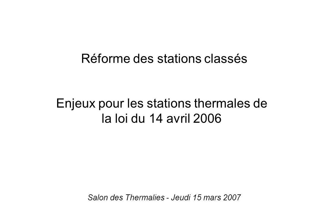 Réforme des stations classés