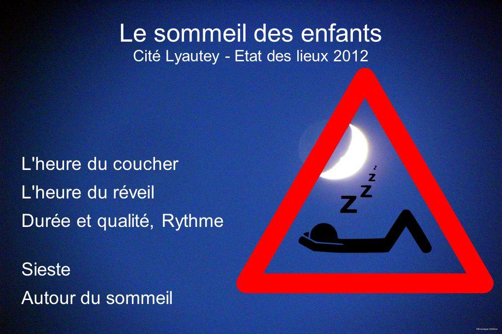 Le sommeil des enfants Cité Lyautey - Etat des lieux 2012