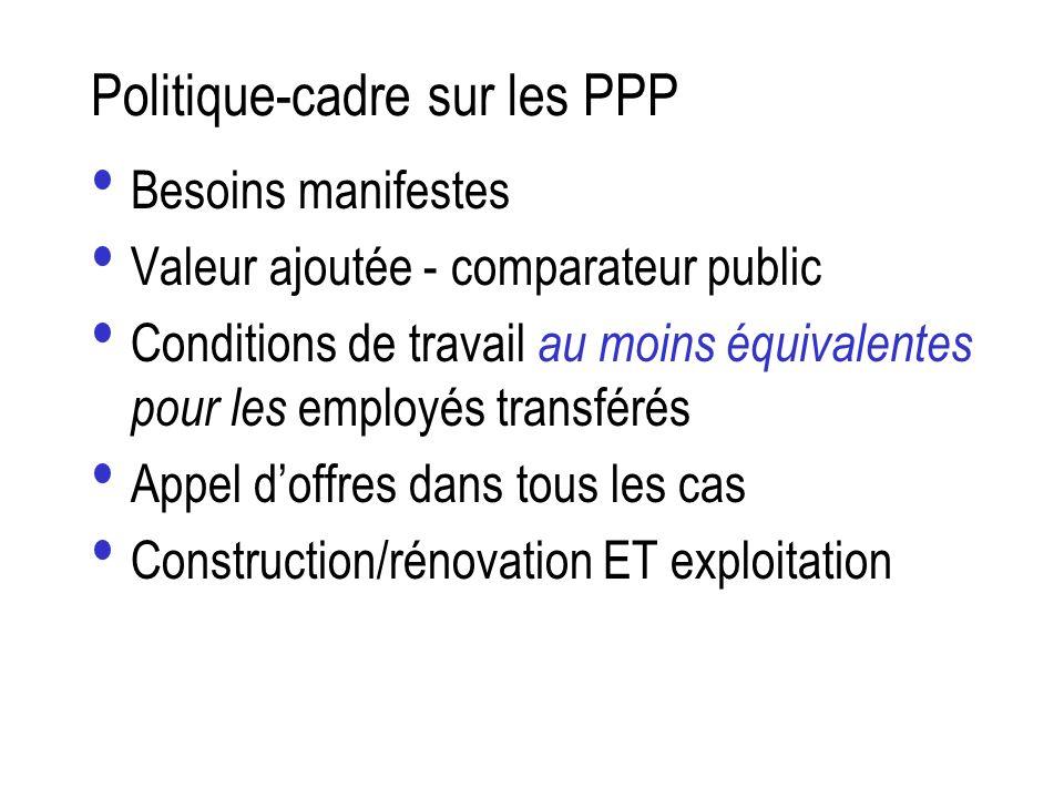 Politique-cadre sur les PPP