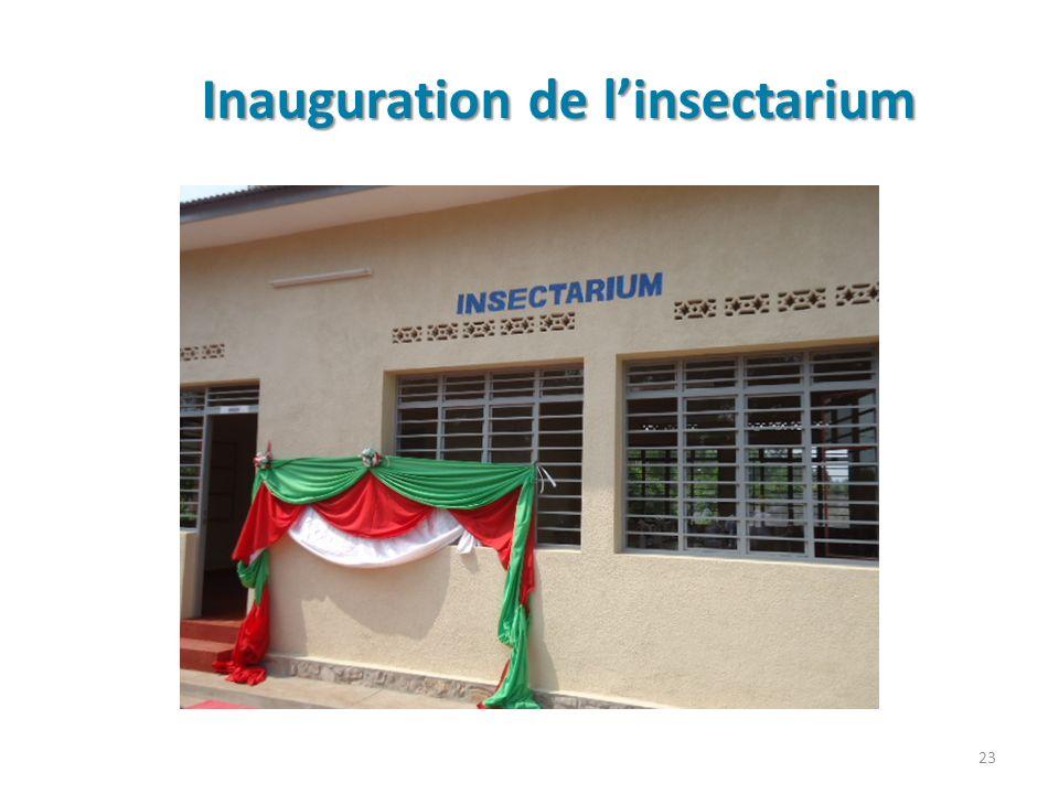 Inauguration de l'insectarium