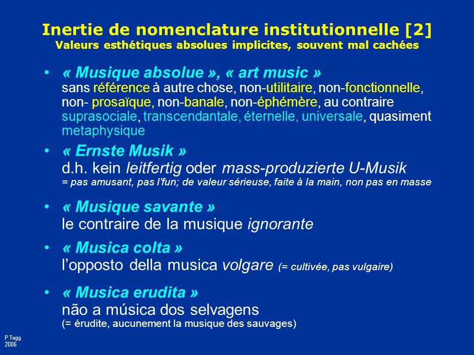 « Musique savante » le contraire de la musique ignorante