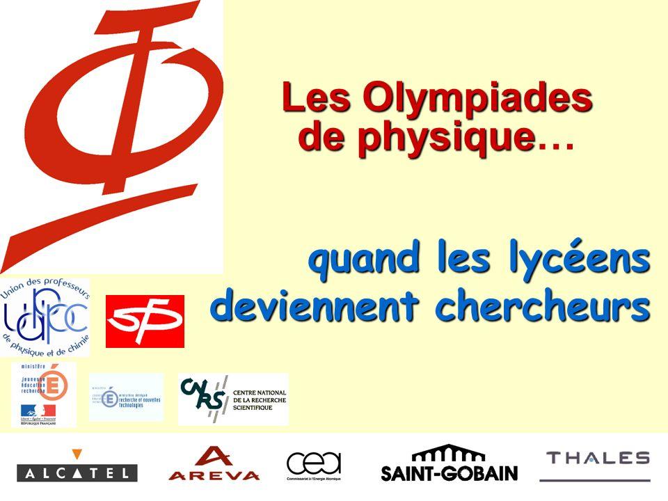 Les Olympiades de physique…