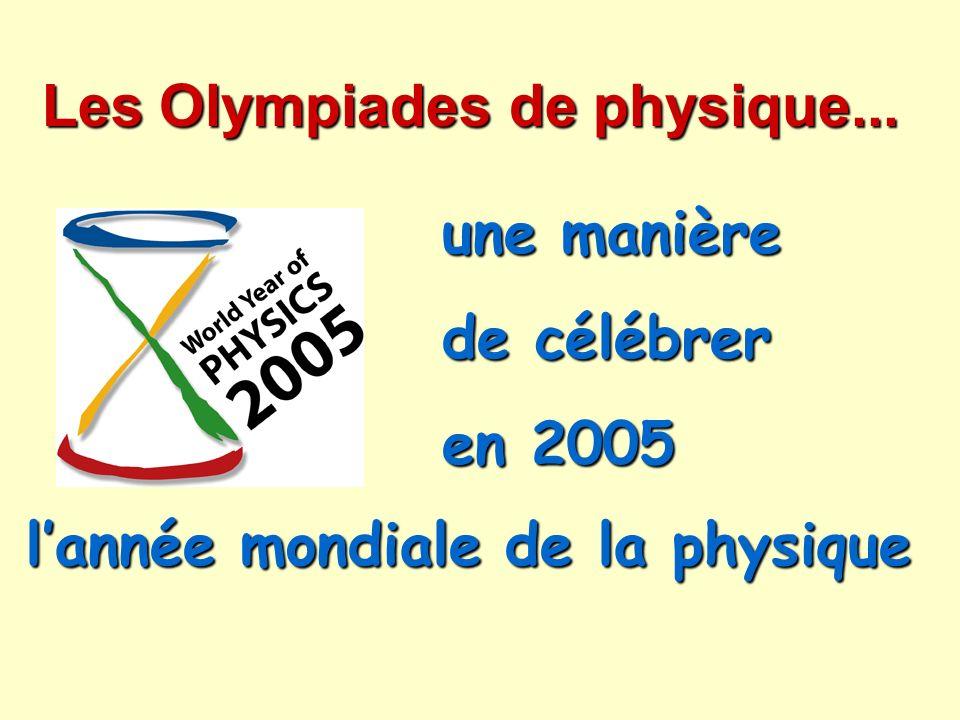 Les Olympiades de physique...