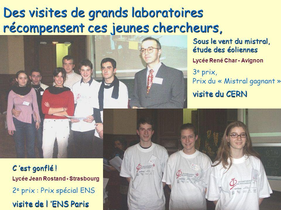 Des visites de grands laboratoires récompensent ces jeunes chercheurs,