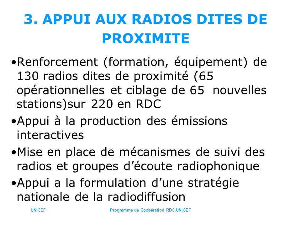 3. APPUI AUX RADIOS DITES DE PROXIMITE