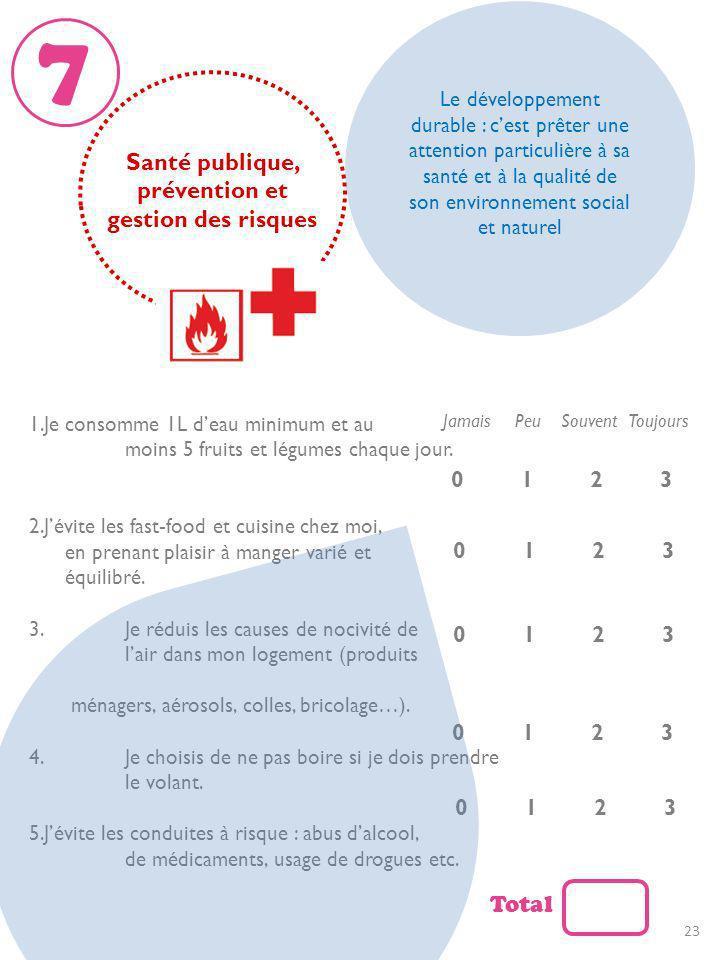 Santé publique, prévention et gestion des risques