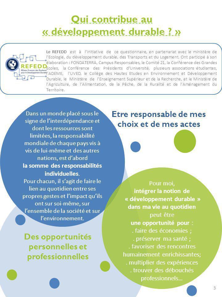 Qui contribue au « développement durable »