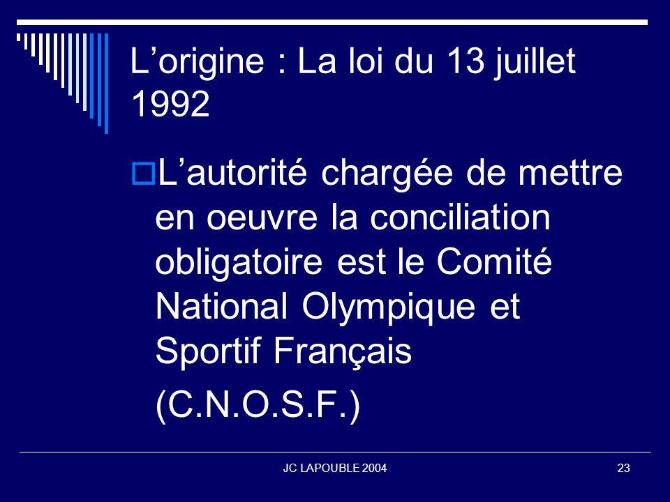 L'origine : La loi du 13 juillet 1992