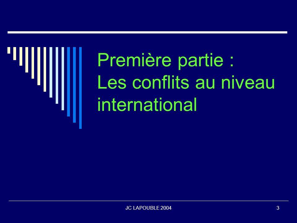 Première partie : Les conflits au niveau international
