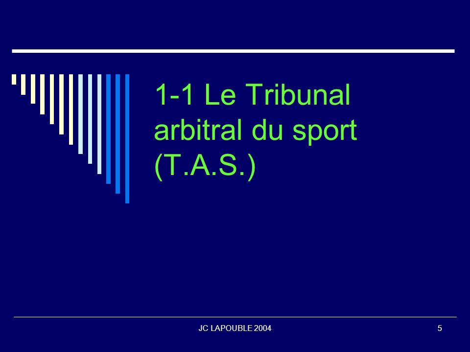 1-1 Le Tribunal arbitral du sport (T.A.S.)
