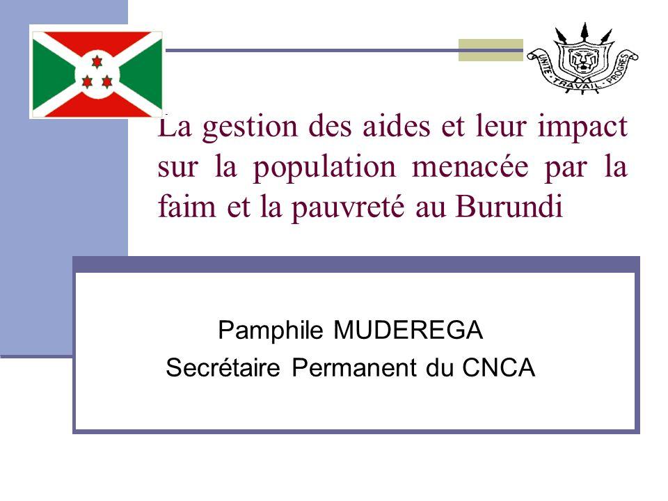 Pamphile MUDEREGA Secrétaire Permanent du CNCA