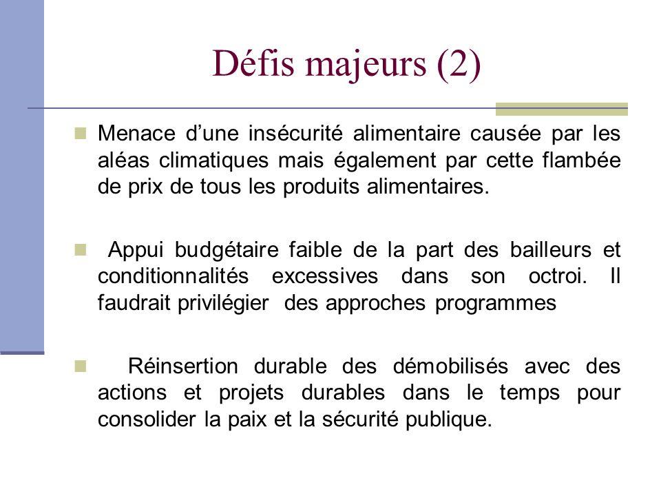 Défis majeurs (2)