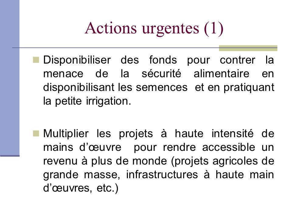 Actions urgentes (1)