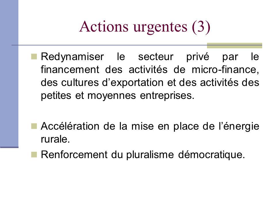 Actions urgentes (3)