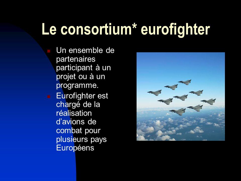 Le consortium* eurofighter