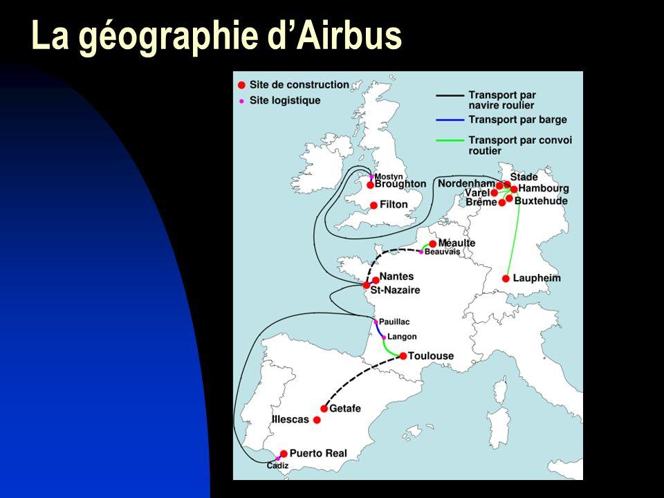 La géographie d'Airbus