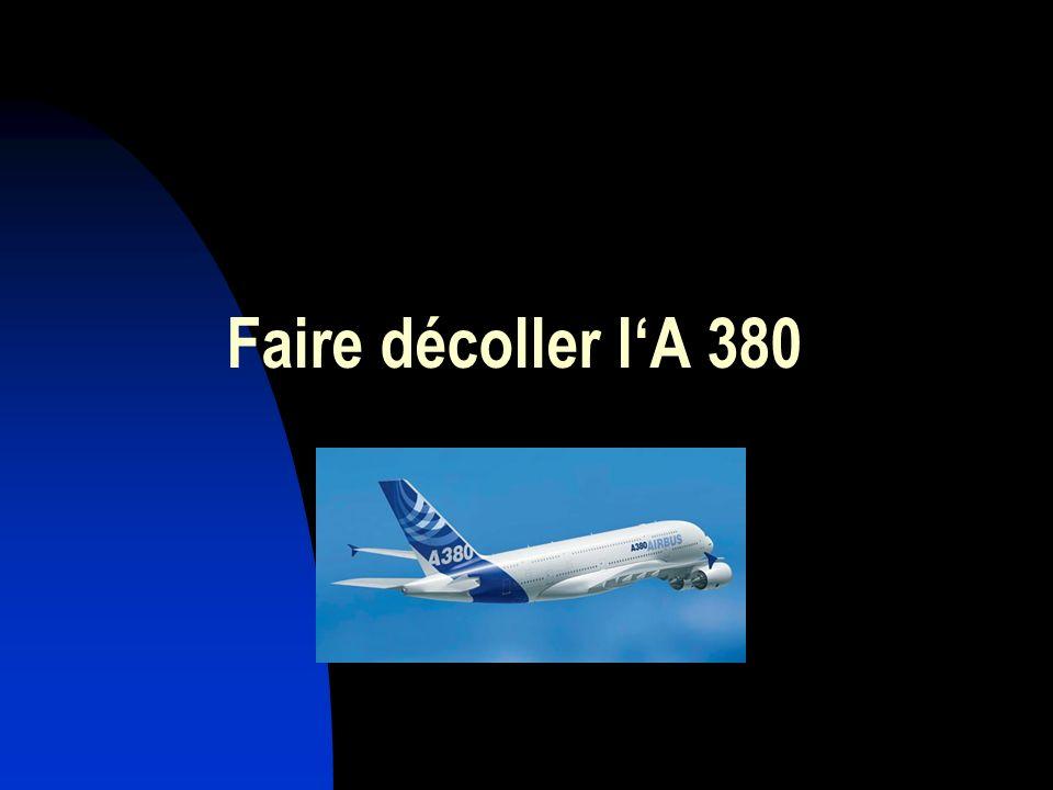 Faire décoller l'A 380