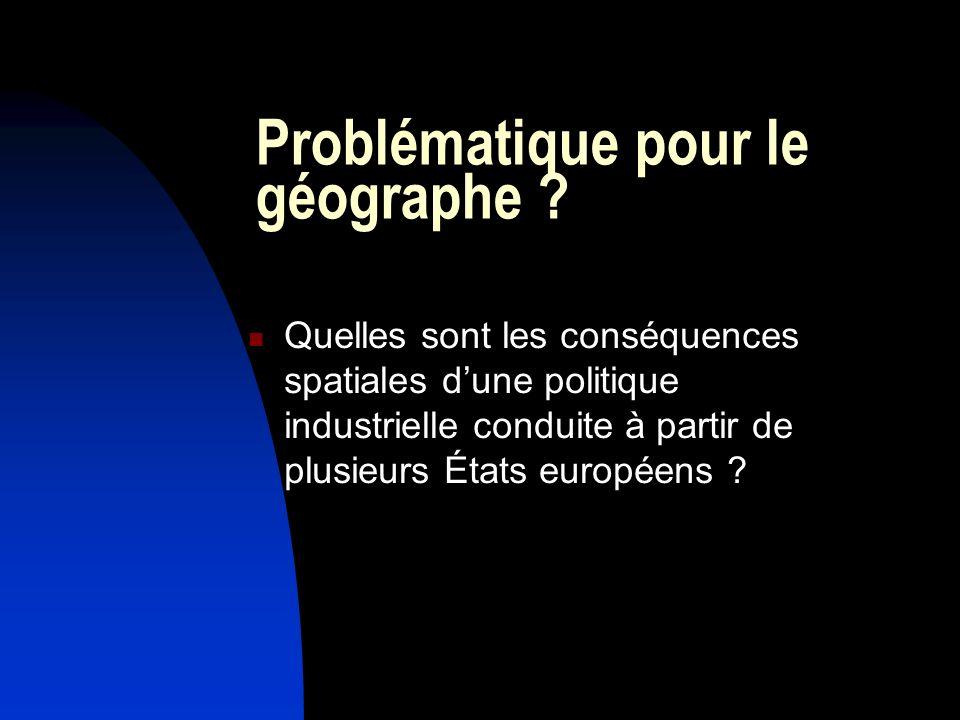 Problématique pour le géographe