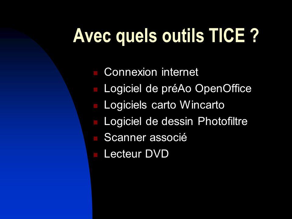 Avec quels outils TICE Connexion internet