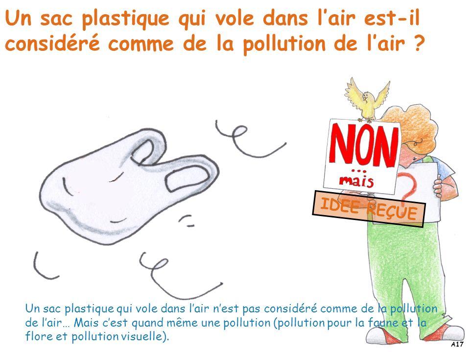 Un sac plastique qui vole dans l'air est-il considéré comme de la pollution de l'air