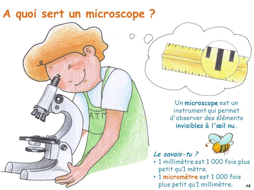 A quoi sert un microscope