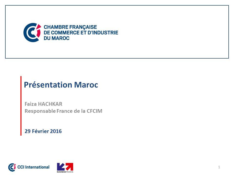 Chambre Américaine De Commerce Au Maroc : Faiza hachkar responsable france de la cfcim ppt télécharger