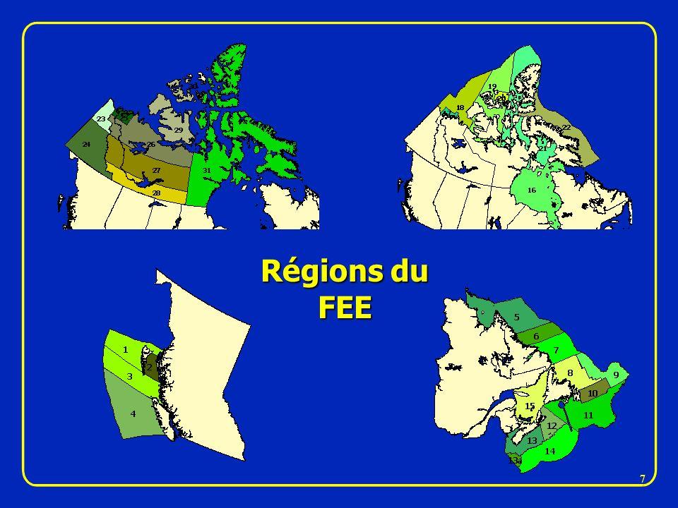 Régions du FEE 7