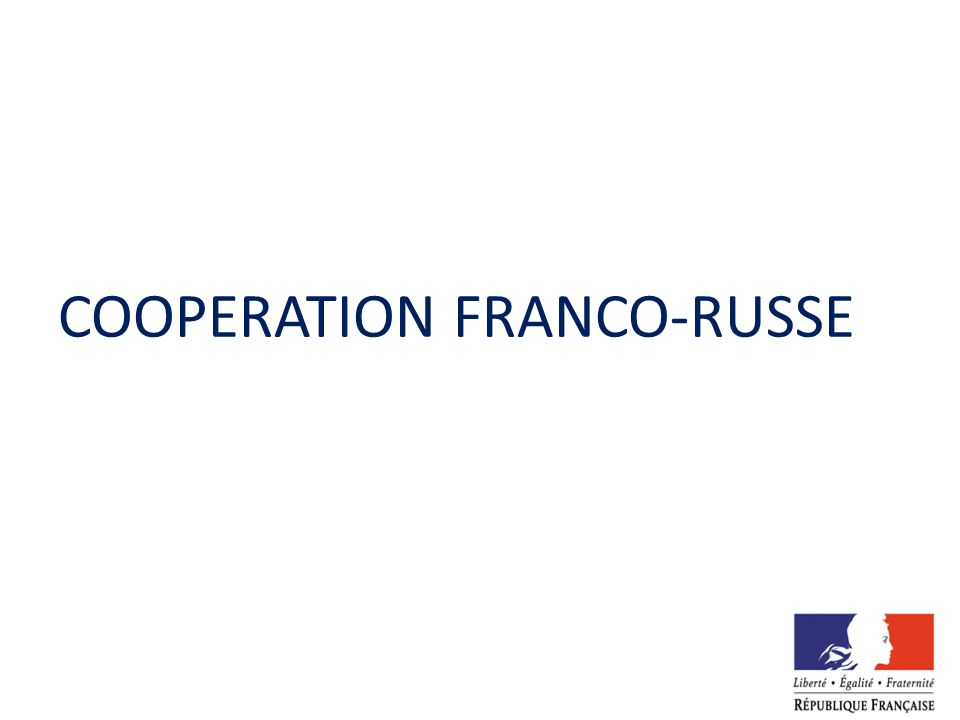 COOPERATION FRANCO-RUSSE