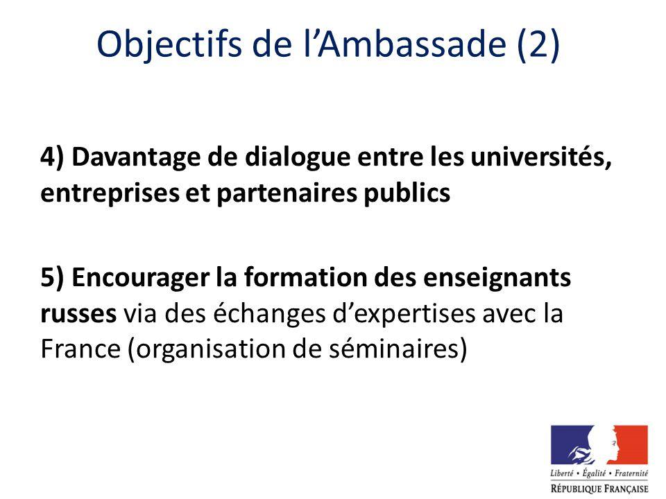 Objectifs de l'Ambassade (2)
