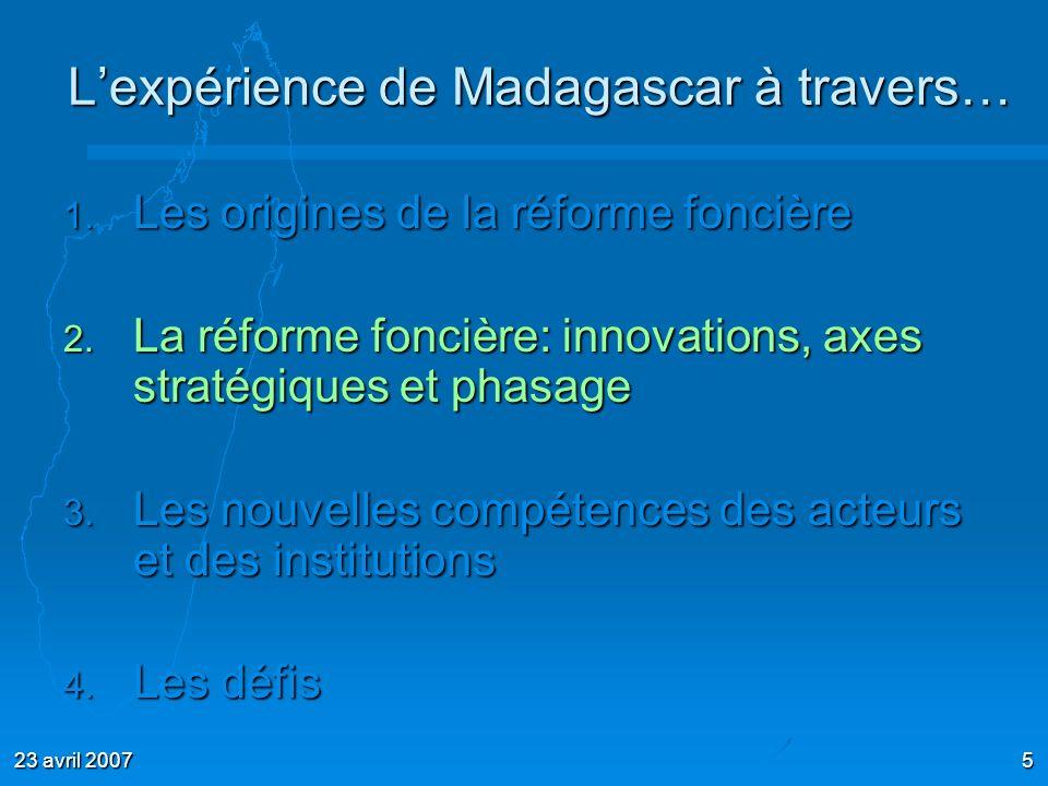 L'expérience de Madagascar à travers…