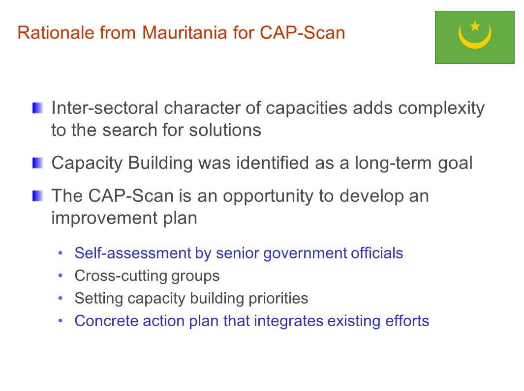 Rationale from Mauritania for CAP-Scan