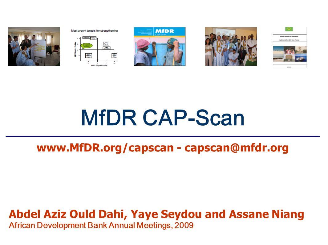 www.MfDR.org/capscan - capscan@mfdr.org